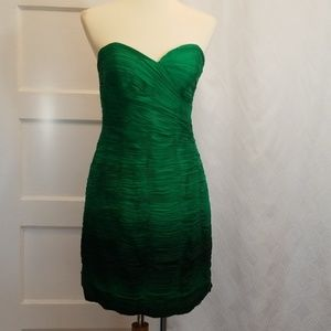 Janique by Kourosh Strapless Silk Dress,  Size 8